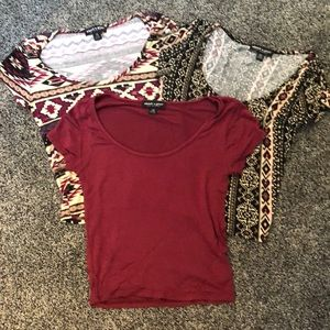 Bundle of 3 about a girl Crop Tops